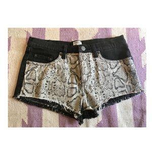 RVCA Black Denim Shorts